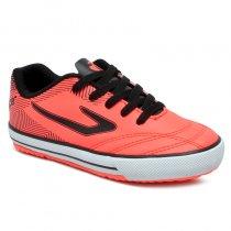 Imagem - Tênis Futsal Infantil Topper Frontier IX 4203663 Coral/Preto - 019031401062672