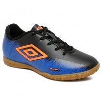 Imagem - Tênis Futsal Infantil Umbro Burn JR OF82065 Preto/Azul/Laranja - 019031401052275