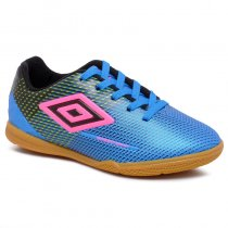 Imagem - Tênis Futsal Infantil Umbro Speed Soniic OF82060 Azul/Preto/Rosa - 019031400822565