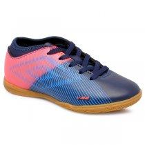 Imagem - Tênis Futsal Infantil Umbro Vibe 2 OF82064 Azul Marinho/Coral/Azul - 019031400962647