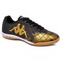 Imagem - Tênis Futsal Kappa Jeff Preto/Dourado - 019043401651546