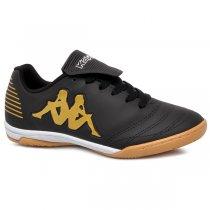 Imagem - Tênis Futsal Kappa Tracce 2 8359 Preto/Ouro - 019043401411191