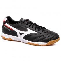 Imagem - Tênis Futsal Mizuno Morelia Classic 4140679-1019 Preto/Branco/Vermelho - 019043401341326