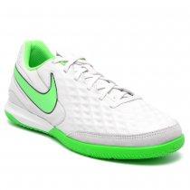 Imagem - Tênis Futsal Nike Tiempo Legend 8 Couro Branco/Verde