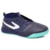 Imagem - Tênis Futsal Topper Dominator Knit Pro 4203660 Azul Marinho/Verde - 019043401440709