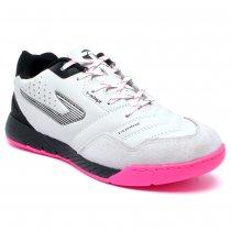 Imagem - Tênis Futsal Topper Dominator Pro III Couro Branco/Preto/Pink