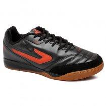 Imagem - Tênis Futsal Topper Maestro TD 2 Couro Preto/Vermelho - 019043401241090