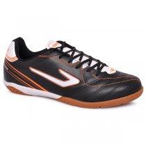 Imagem - Tênis Futsal Topper Titanium 6 4200406 Preto/Branco/Laranja - 019043401031313
