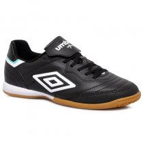 Imagem - Tênis Futsal Umbro Speciali 3 Club OF72131 Preto/Branco/Verde - 019043401362035