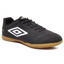 Imagem - Tênis Futsal Umbro Striker 6 0F72140 Preto/Branco/Dourado - 019043401742021
