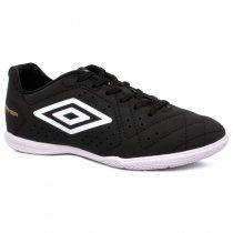 Imagem - Tênis Futsal Umbro Striker 6 OF72140 Preto/Branco/Dourado - 019043401402021