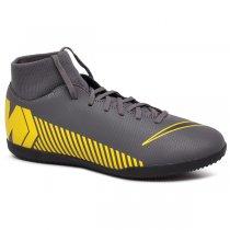 Imagem - Tênis Futsal Infantil Nike Superfly 6 Club AH7346-070 Cinza/Preto/Amarelo - 019031400762532