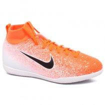 Imagem - Tênis Futsal Infantil Nike Superfly 6 Club AH7346-801 Laranja/Branco - 019031400801325
