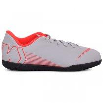 Imagem - Tênis Indoor Infantil Nike Vaporx12 Club AH7354-060 Cinza/Vermelho - 019031400630962