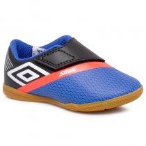 Imagem - Tênis Futsal Infantil Umbro Soul OF82061 Azul/Branco/Coral - 019031400812352