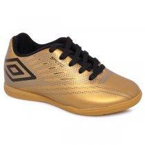 Imagem - Tênis Futsal Infantil Umbro Speed IV Dourado/Grafite/Preto - 019031400692440