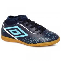 Imagem - Tênis Indoor Infantil Umbro Velox OF82056 Azul Marinho/Azul/Branco - 019031400701312