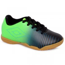 Imagem - Tênis Indoor Infantil Umbro Vibe OF82045 Preto/Verde/Azul - 019031400451985