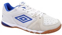 Imagem - Tênis Indoor Masculino Umbro Pro 3 OF72056 Branco-Azul - 019043400131181