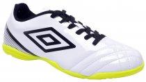 Imagem - Tênis Indoor Masculino Umbro Striker 3 Branco-Preto-Limão - 019008200151470