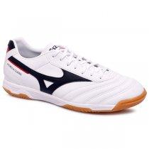 Imagem - Tênis Indoor Mizuno Morelia Classic 4140679-3859 Branco/Preto/Vermelho - 019043401111587