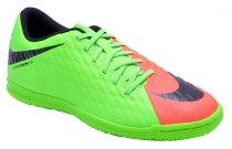 Imagem - Tenis Indoor Nike Hypervenomx Phade 3 852543-308 Salmao/Verde - 19043400291872