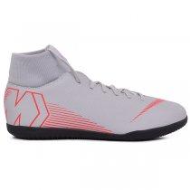 Imagem - Tênis Indoor Nike Superflyx6 Club AH7371-060 Cinza/Vermelho - 019043401020962