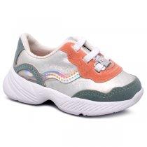 Imagem - Tênis Infantil Dad Sneaker Molekinha 2709105 Branco/Pistache - 001054502522842