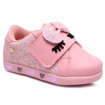 Imagem - Tênis Infantil De Led Pampili 165112 Glitter Rosa - 001054502640146