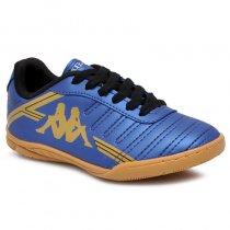 Imagem - Tênis Infantil Futsal Kappa Quarter 2 8310 Azul Marinho/Ouro - 019031401082757