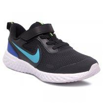Imagem - Tênis Infantil Nike Revolution 5 PSV BQ5672 Preto/Azul - 001054202791085