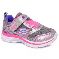Imagem - Tênis Infantil Skechers Dream Ndash E-81465N Cinza/Rosa - 001054501681194