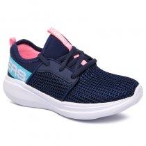 Imagem - Tênis Infantil Skechers Go Run Fast 85400L Azul Marinho/Rosa - 001054502301172