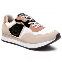 Imagem - Tênis Jogging Via Marte Casual 20-14116 Porcelana/Branco/Dourado - 001005503882897
