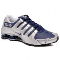 Imagem - Tênis Nike Shox NZ 378341-402 Prata/Azul - 001059401381190