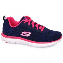 Imagem - Tênis Skechers Flex Appeal 2.0 R-12753 Azul Marinho/Pink - 001003301041242