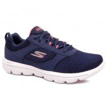 Imagem - Tênis Skechers Go Walk Evolution Gow-15734 Azul Marinho/Coral - 001003301692609
