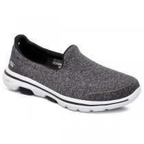 Tênis Slip-On Skechers Go Walk 5 BKW 15932 Cinza