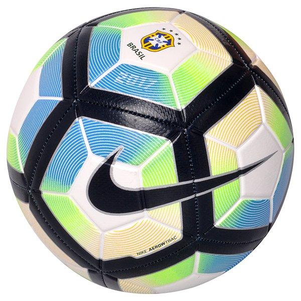 Bola Campo Nike Strike CBF SC3076-100 Branco Azul Verde b29620e98156b