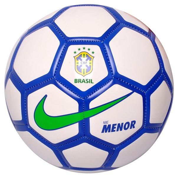 Bola Futsal Nike Menor CBF SC2911-100 Branco Azul d467248a5a905
