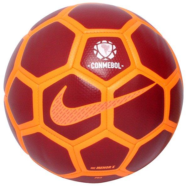 6e50e02415d2d Bola Futsal Nike Menor Conmebol SC3251-674 Bordo Laranja