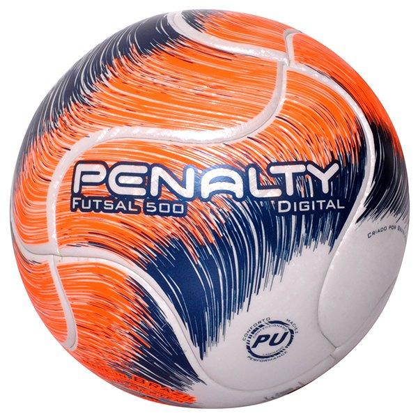 efbf950c8a Bola Futsal Penalty Digital 500 Term VIII 5414911 Branco Laranja Azul