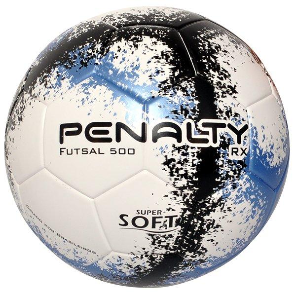 Bola Futsal Penalty RX 500 R3 Fusion 5203091 Branco Azul Preto 4fdad414a08c1