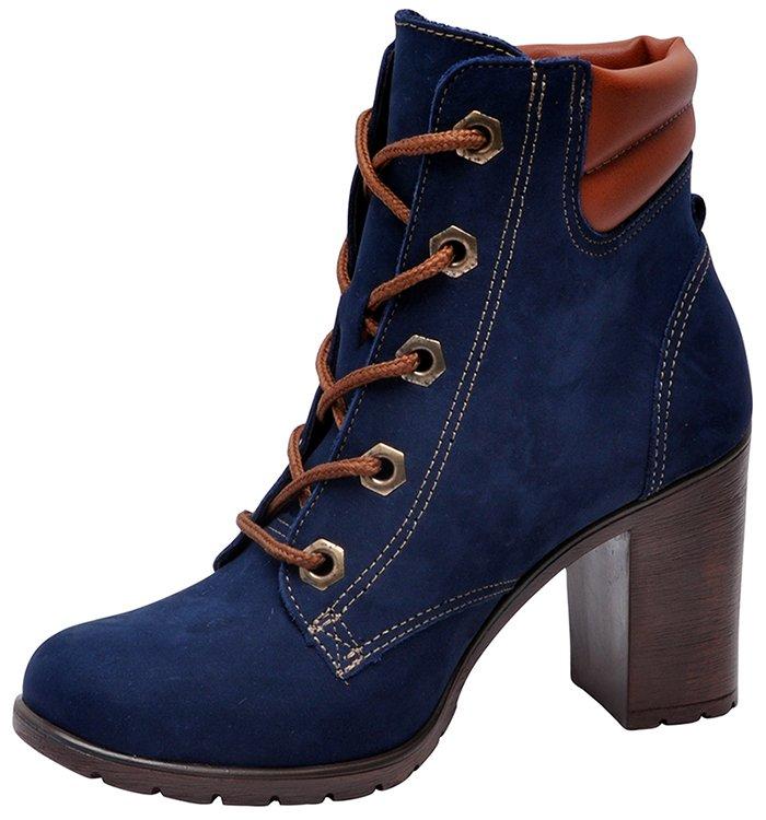 e9df548efa4 Bota Feminina Dakota B8031 Azul Marinho-Castanho