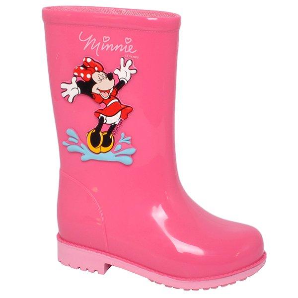 42be73deab5 Bota Infantil Galocha Grendene Disney Fashion 21753 Rosa/Rosa