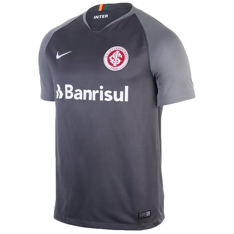 218b07a455 Camiseta Internacional Infantil Nike 894463-022 Cinza