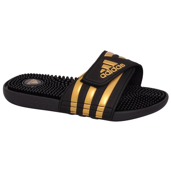 3dd2d9f1da7 Chinelo Adidas Adissage CM7924 Preto Dourado