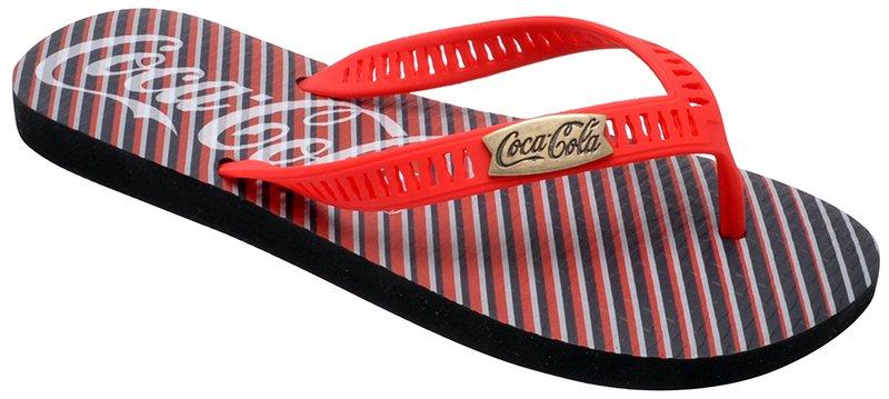 9b1fb2e101f35 Chinelo Masculino Coca-Cola 021.Cc2238 Preto Vermelho