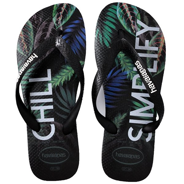 18b54d533 Chinelo Masculino Havaianas Top Tropical Preto