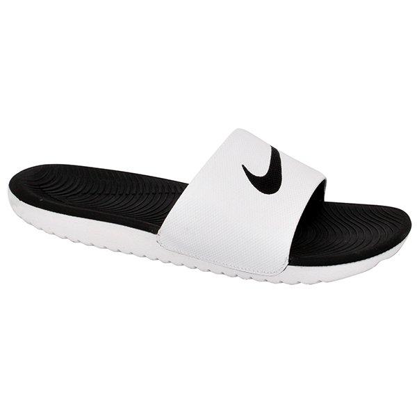745bcceb8 Chinelo Slide Nike Kawa 832646-100 Branco/Preto